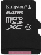 Kingston 64GB microSD kártya C10/U1/UHS-I SDCS/64GB