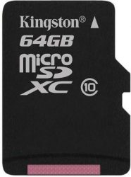Kingston 64GB microSD kártya C10/U1/UHS-I SDCS/64GB