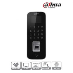 Dahua ASI1212D beléptető vezérlő, LCD kijelző, Mifare(13,56MHz)+kód+ujjlenyomat, RS-485/Wiegand/RJ45, I/O, IP65