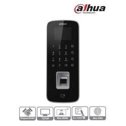 Dahua beléptető vezérlő - ASI1212D (LCD kijelző, Mifare(13,56MHz)+kód+ujjlenyomat, RS-485/Wiegand/RJ45, I/O, IP65)