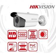 Hikvision DS-2CC12D9T-IT3E Bullet HD-TVI kamera, kültéri, 1080P, 6mm, IR40m, ICR, IP67, WDR, 12VDC/PoC