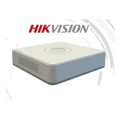 Hikvision DVR rögzítő - DS-7104HQHI-K1 (4 port, 3MP, 2MP/60fps, H265+, 1x Sata, Audio, 1x IP kamera)