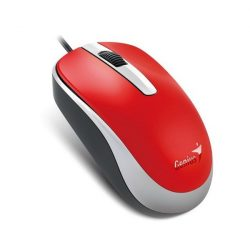 Genius Egér - DX-120 (Vezetékes, 1000 DPI, 3 gomb, USB, piros)