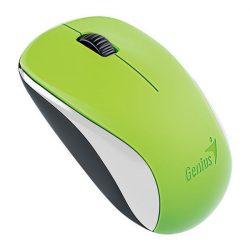 Genius Egér - NX-7000 (Vezeték nélküli, USB, 3 gomb, 1200 DPI, BlueEye, zöld)