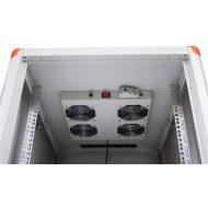 """Legrand Rackszekrény ventilátor 19""""-  4 ventilátor,termosztát, 320m3/óra,Fekete (19"""" álló Evoline/Estap rackszekrényhez)"""