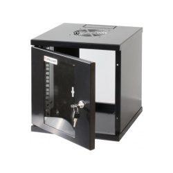 """Manhattan Rackszekrény - 10"""" fali kivitel (6U, 320 (h) x 300 (w) x 300 (d) mm, Összeszerelt, Fekete)"""