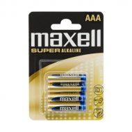 Maxell Elem - Szuper Alkáli elem,  4db AAA (LR03), 1,5V (no mercury)