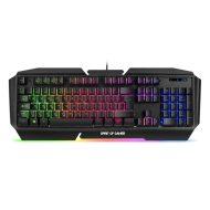 Spirit of Gamer Billentyűzet - PRO-K5 (105 gomb, Fém felső rész, RGB LED, USB, 19 anti-ghost, fekete, magyar)