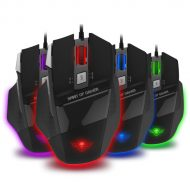 Spirit of Gamer Egér - PRO-M8 Light Edition (Avago 5050, 3500DPI, 1000Hz, 7 gomb, LED, fekete)