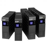 EATON szünetmentes 850VA - ELP850DIN (4 Schuko kimenet, line-interaktív, LCD, USB, szoftver, AVR, rack/torony)